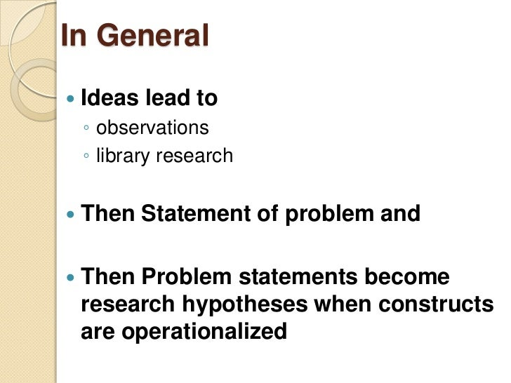 creating a hypothesis for a research paper