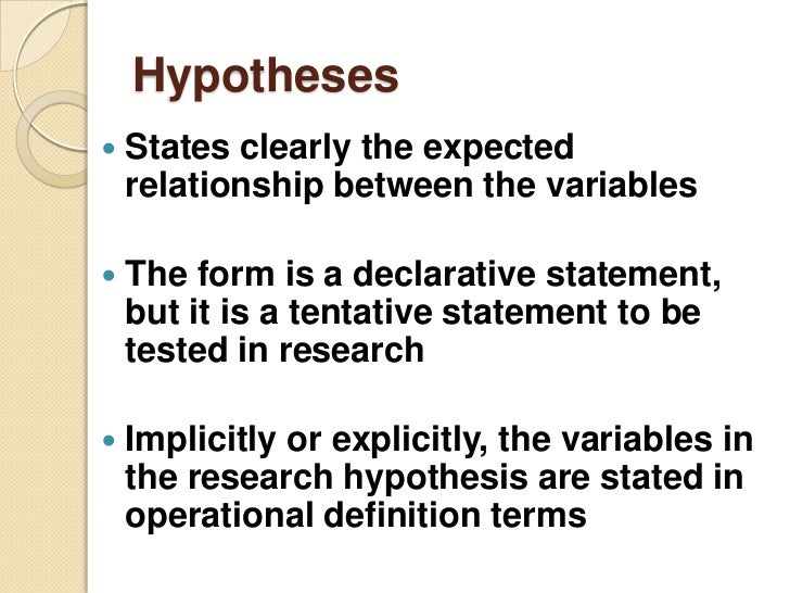 hypothesis+exaample research papers Converting research questions to hypothesis is a simple task  relationship  exists (correlation studies) or a difference exists between the groups (experiment  study) and  we can disprove something does not exist by finding an example of  it.