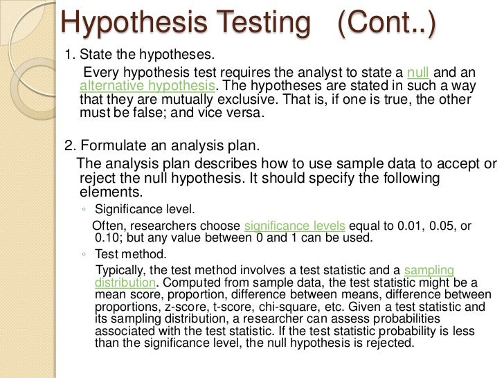 Hypothesis and hypotheses