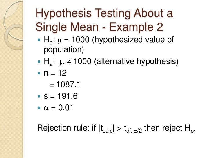 Ho and ha hypothesis