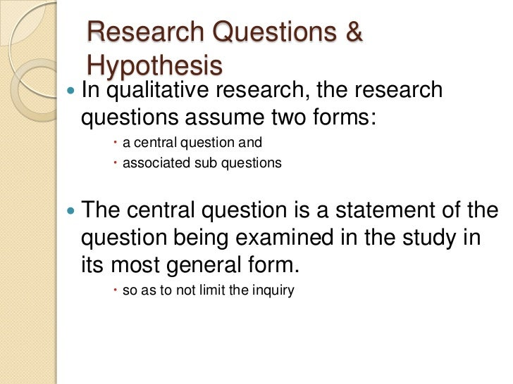 dissertation hypothesis question Dissertation hypothesis: the importance of the thesis or dissertation in the educational experience of the undergraduate or graduate student should not be underestimated college professors view the dissertation as a cumulative effort : representative of the entirety of the educational experience.