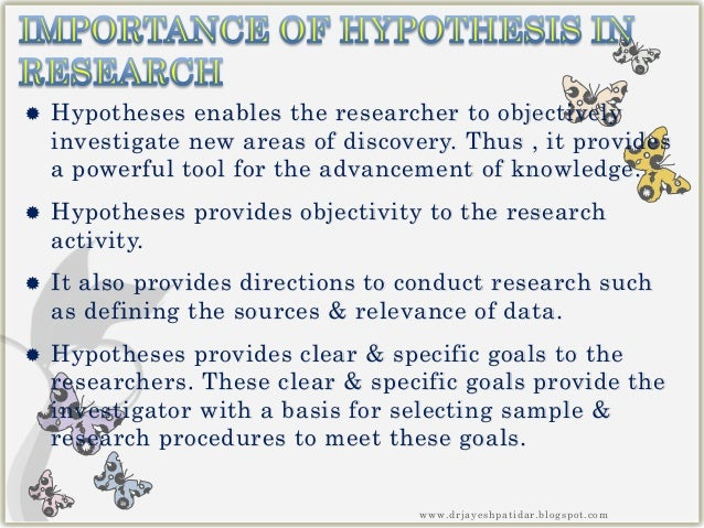 Research questions, hypotheses and objectives
