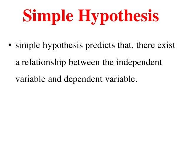 Simple meaning of hypothesis