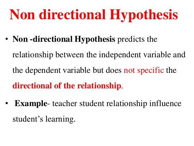 Non hypothesis