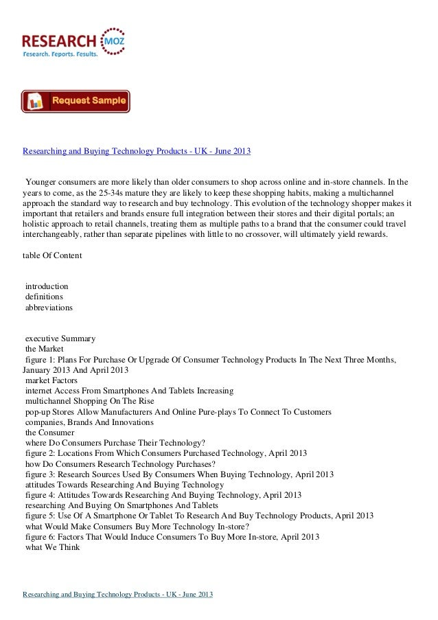 Researching and Buying Technology Products - UK - June 2013Younger consumers are more likely than older consumers to shop ...
