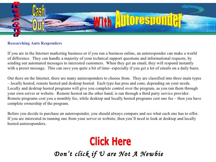 Researching Auto Responders If you are in the Internet marketing business or if you run a business online, an autoresponde...