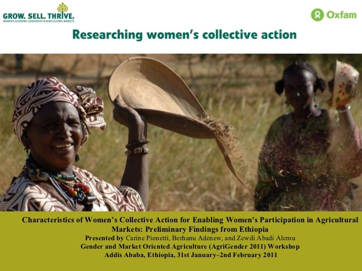 Characteristics of Women's Collective Action for Enabling Women's Participation in Agricultural Markets: Preliminary Findi...