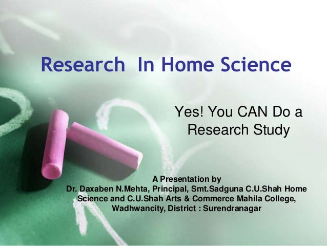 Research In Home Science                           Yes! You CAN Do a                            Research Study            ...