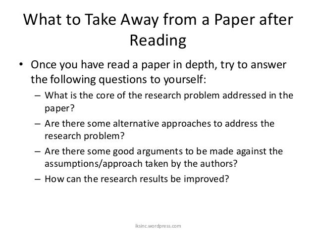 how to conduct a research question