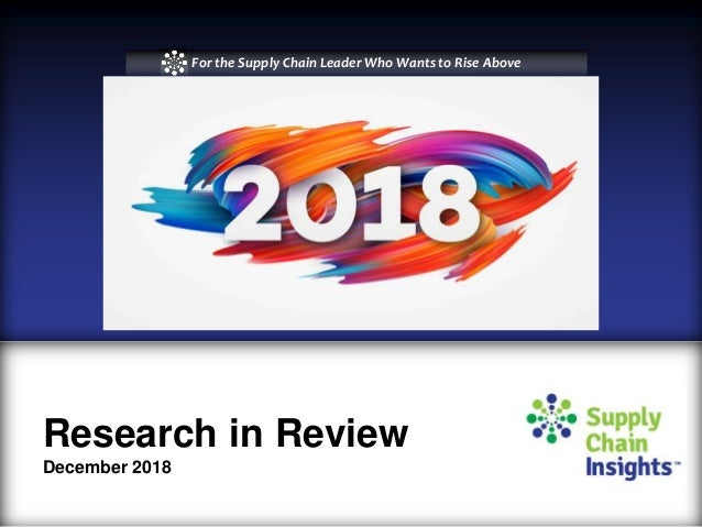 Research in Review Webinar Supply Chain Insights_2018