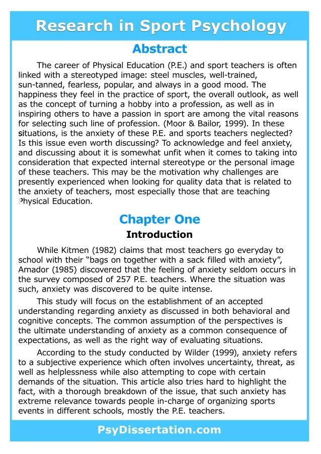 Abstract dissertation educational international psychology