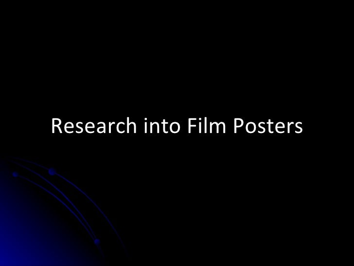 Research into Film Posters