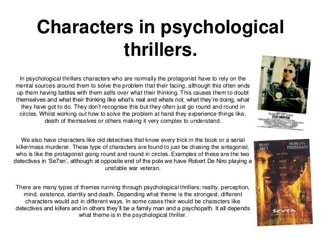 Writing a Psychological Thriller