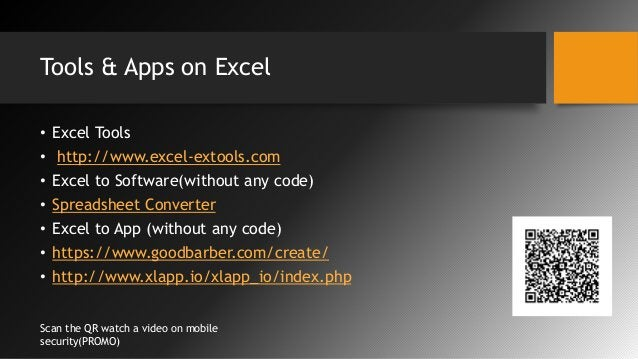 Tools & Apps on Excel • Excel Tools • http://www.excel-extools.com • Excel to Software(without any code) • Spreadsheet Con...