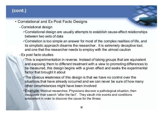 ex post facto design example