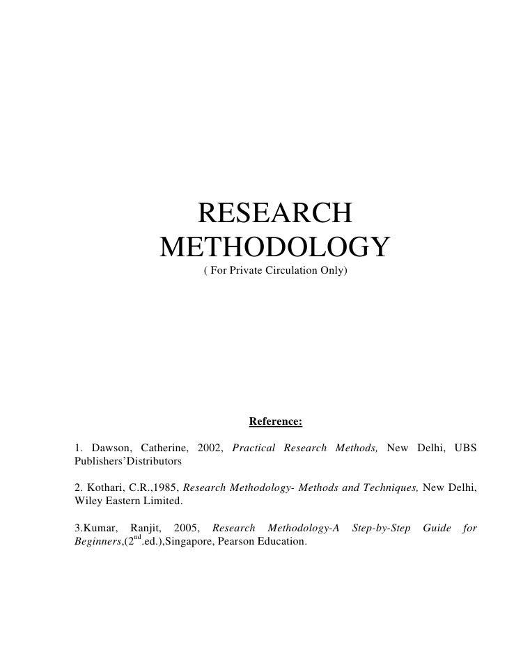 Research Methodology Ranjit Kumar 4th Edition Pdf