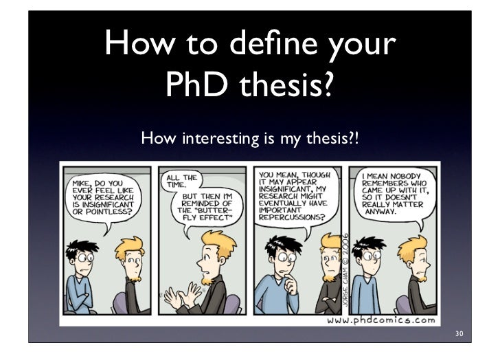Phd thesis novelty