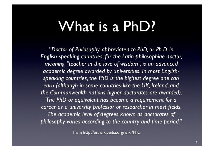 Research Methodology What Is A Phd