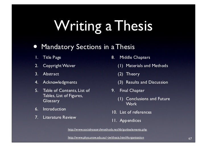 Citation thesis