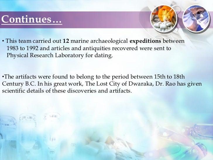 Carbon dating dwarka