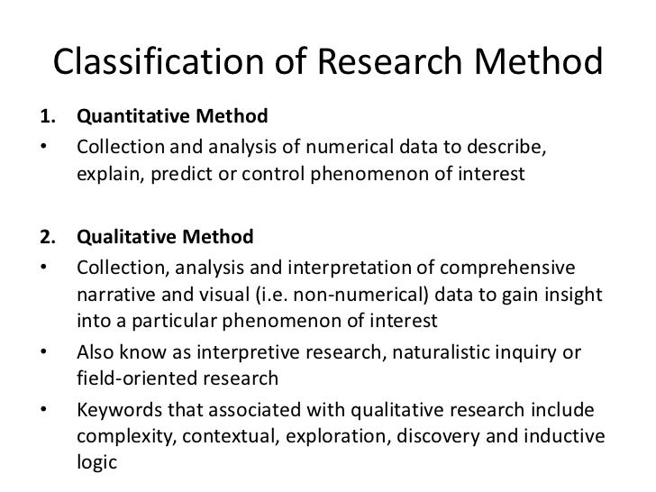 methods of data analysis in quantitative research Fundamentals of quantitative research when to use and not to use quantitative methods  determined so rigid guides in the process of data collection and analysis.