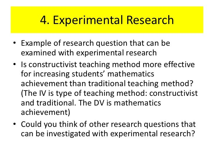 Exploratory research questions