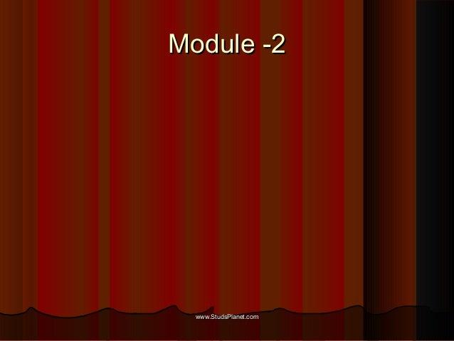 Module -2Module -2 www.StudsPlanet.comwww.StudsPlanet.com