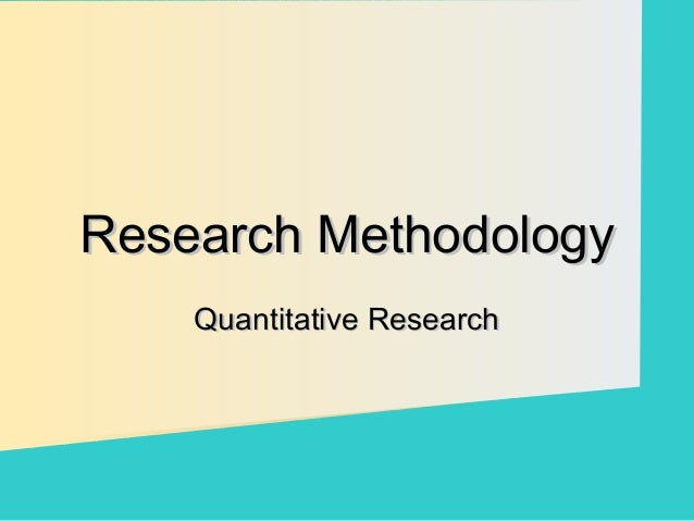 why use quantitative research pdf