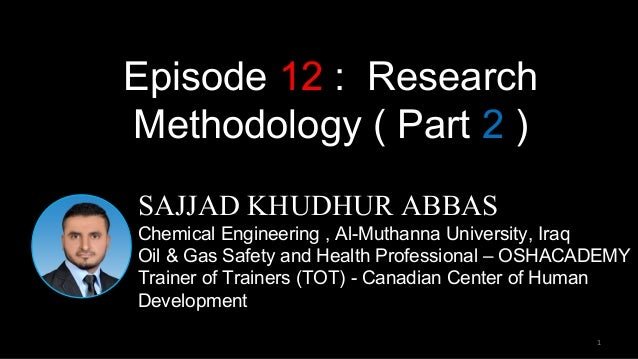 Doing Research Ep. 6 - Research Methodology - YouTube