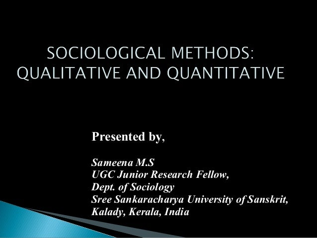 methodology research paper sociology