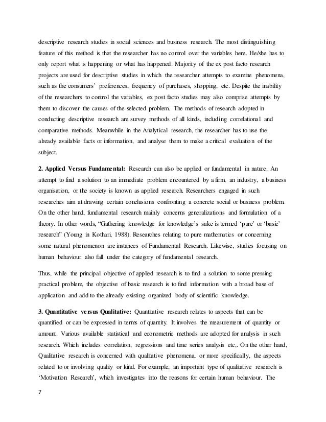 descriptive method research paper It is a philosophy and a scientific method and has undertaken many variations   the aim of this paper is to describe descriptive phenomenology in the tradition.