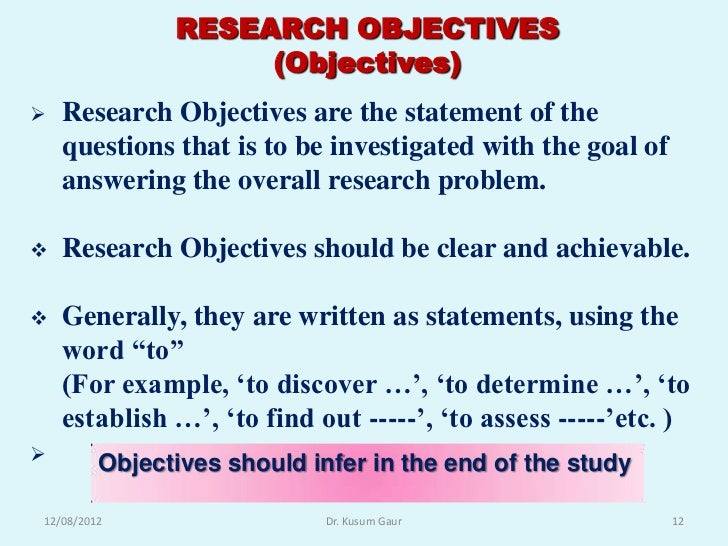 objectives in writing a research paper But before you set out to write a paper  guiding the readers to your objectives when writing this paper state the purpose of the paper and research strategy.