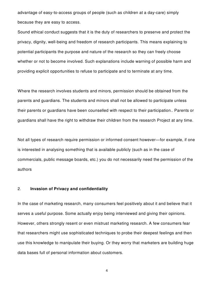 ethical considerations- research thesis