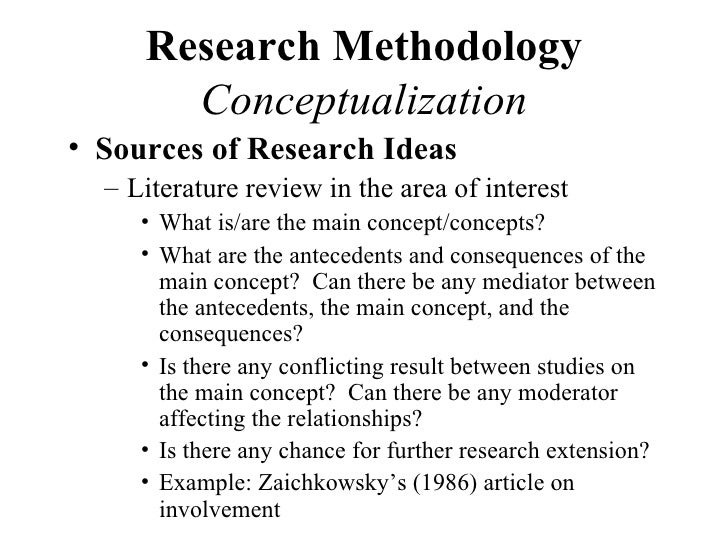 Sample of a research methodology