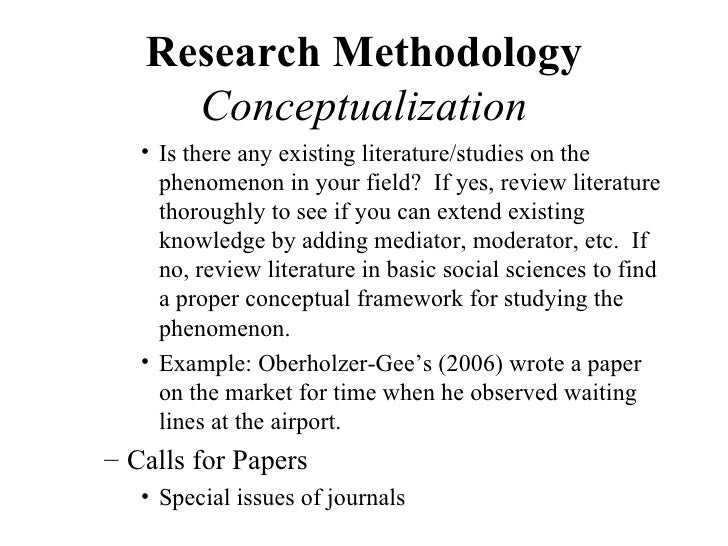 research paper on research methodology
