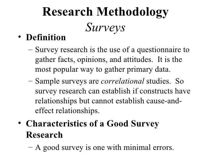 Definitions of research methodology