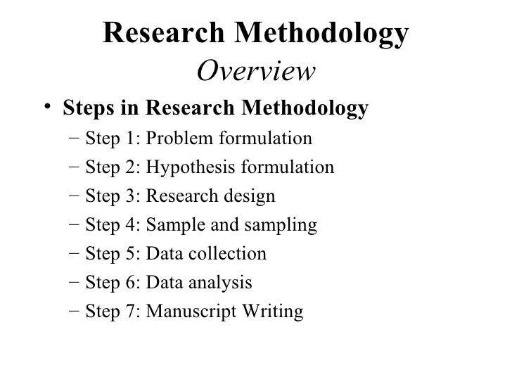 Research Methodology For Behavioral Research