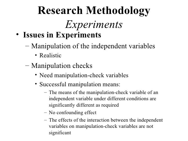 example of methodology in experimental research