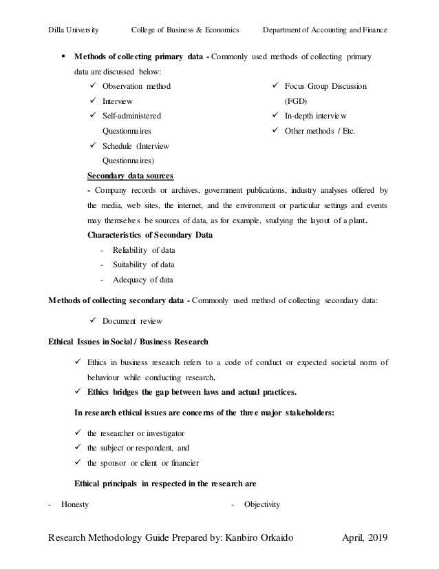 Research methodology guide prepared by kanbiro orkaido (2019)