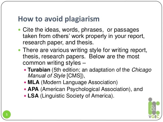 Research paper plagiarism