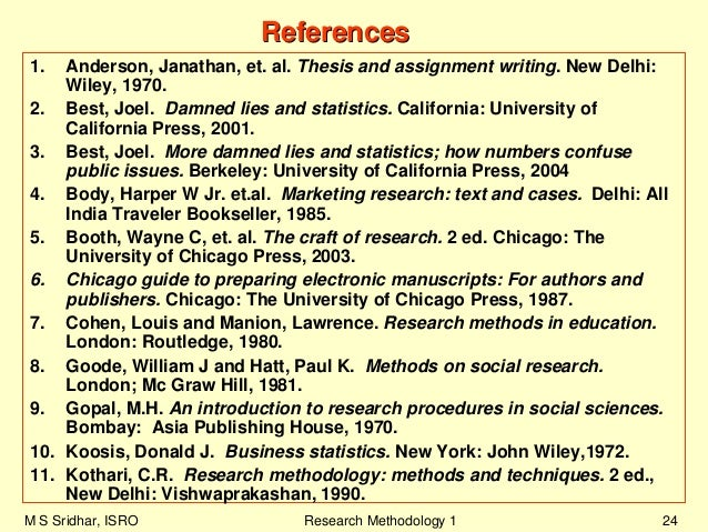 Thesis and assignment writing by anderson et al