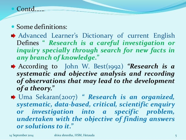 Research Methodology Unit 1 For MBS