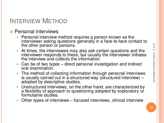 research methodology unit5