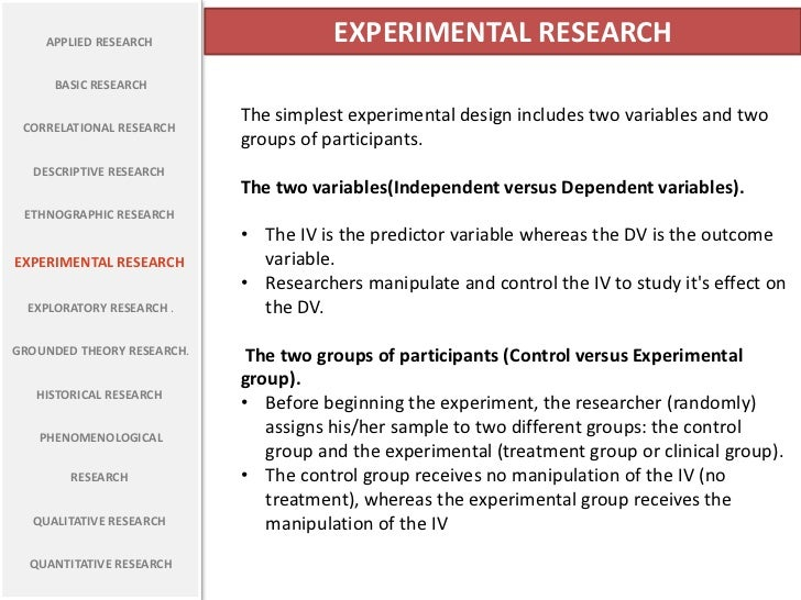 experimental research titles examples