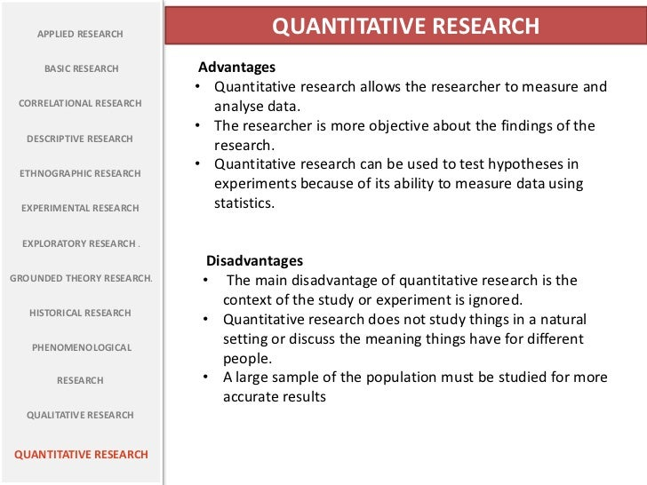 Quantitative research means