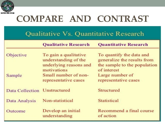 Compare and contrast qualitative and quantitative research methods