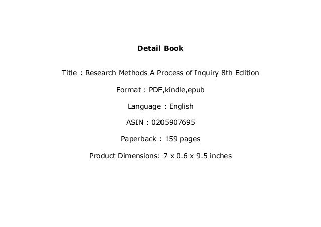 research methods a process of inquiry 8th edition free pdf
