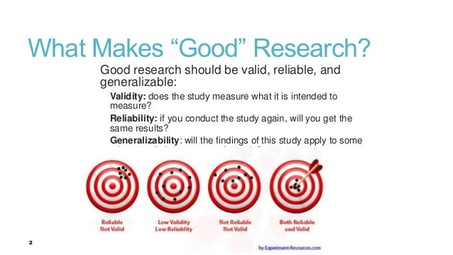 validity in research methods Understanding the impact of convergent validity on research results using a variety of research methods to demonstrate understanding the impact of convergent.
