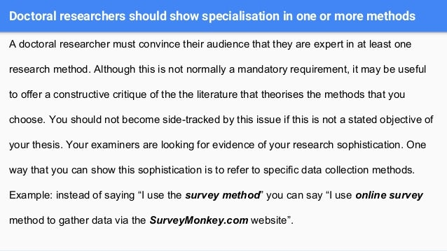 masters dissertation research methods If you are a taking a taught or research-based masters course, or doing a phd, then you will likely be asked to present a dissertation that includes research and data from a project of your own design one of the key factors in writing a dissertation that successfully presents your research is the dissertation methodology.