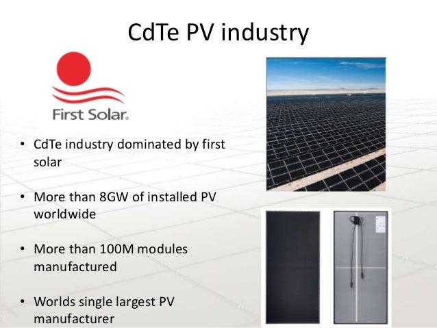 Cdte Solar Cells